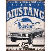 Plaque publicitaire métal Ford muscle car