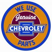 Plaque publicitaire métal ronde Chevrolet parts
