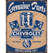 "Plaque publicitaire métal ""Chevrolet Genuine parts"""
