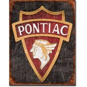 Plaque publicitaire métal Pontiac indian