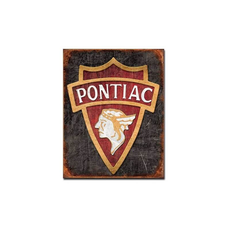 plaque publicitaire pontiac indian us way of life. Black Bedroom Furniture Sets. Home Design Ideas