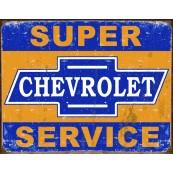 Plaque publicitaire métal Chevrolet super service