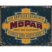 """Plaque publicitaire métal """"Chrysler MOPAR"""""""