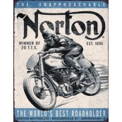 Plaque publicitaire métal Norton the world best