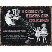 "Plaque publicitaire métal ""Hershey's kisses are delicious"""