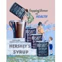 Plaque publicitaire métal Hershey's syrup