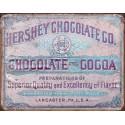 Plaque publicitaire métal Hershey's chocolate co