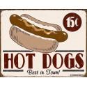 """Plaque publicitaire métal """"Hot Dogs"""""""