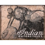 Plaque publicitaire métal Indian Motorcycles