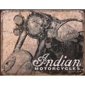 """Plaque publicitaire métal """"Indian Motorcycles"""""""