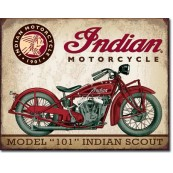Plaque publicitaire métal Indian Motorcycles scout