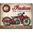 "Plaque publicitaire métal ""Indian Motorcycles scout"""