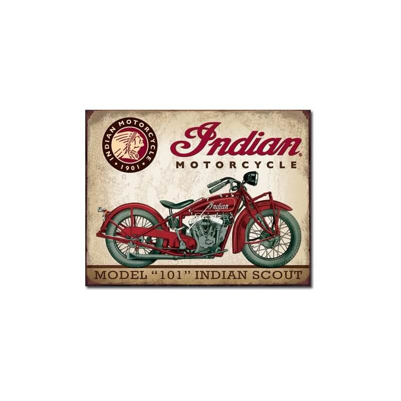 plaque publicitaire indian motorcycles scout us way of life. Black Bedroom Furniture Sets. Home Design Ideas
