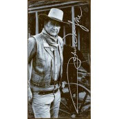"""Plaque publicitaire métal """"John Wayne portrait"""""""