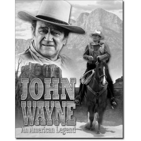 plaque publicitaire john wayne cheval us way of life. Black Bedroom Furniture Sets. Home Design Ideas