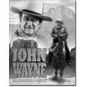 """Plaque publicitaire métal """"John Wayne cheval"""""""