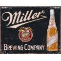 """Plaque publicitaire métal """"Miller noir"""""""
