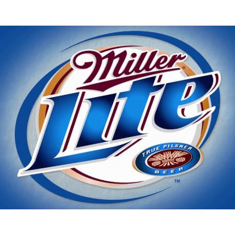 """Plaque publicitaire métal """"Miller Light"""""""