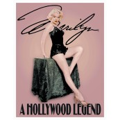 "Plaque publicitaire métal ""Marilyn Monroe Hollywood Legend"""