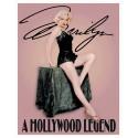 """Plaque publicitaire métal """"Marilyn Monroe Hollywood Legend"""""""