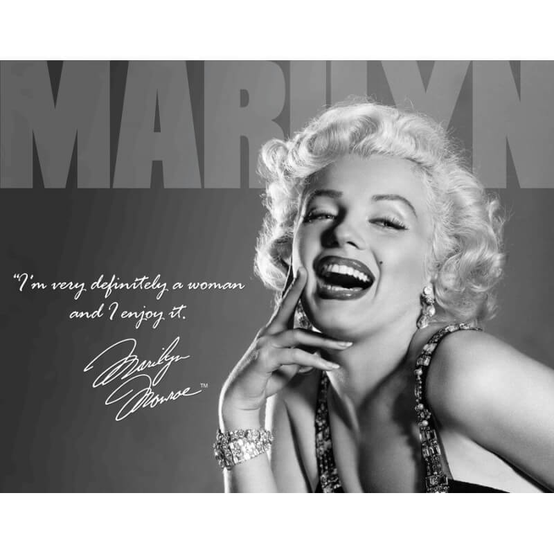 Amazon Women Quotes: Plaque Publicitaire Marilyn Monroe Definitely