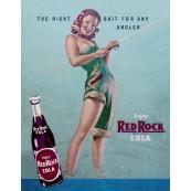 """Plaque publicitaire métal """"Red Rock"""""""