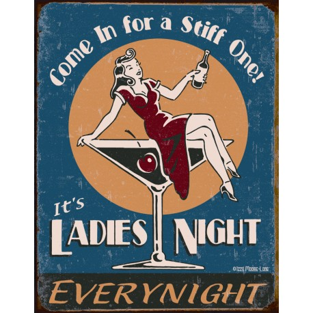 "Plaque publicitaire métal ""Ladies Night"""