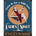"Plaque publicitaire métal ""Ladies Night"""