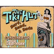 "Plaque publicitaire métal ""The Tiki Hut"""