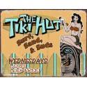 """Plaque publicitaire métal """"The Tiki Hut"""""""