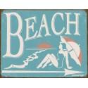 """Plaque publicitaire métal """"Beach"""""""