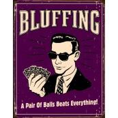 Plaque publicitaire métal Poker face