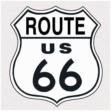 """Plaque publicitaire métal """"Route US 66 """""""