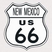 """Plaque publicitaire métal """"Route 66 New Mexico"""""""