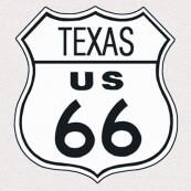 """Plaque publicitaire métal """"Route 66 Texas"""""""