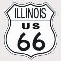 """Plaque publicitaire métal """"Route 66 Illinois"""""""