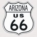 """Plaque publicitaire métal """"Route 66 Arizona"""""""