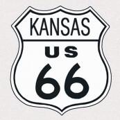 """Plaque publicitaire métal """"Route 66 Kansas"""""""