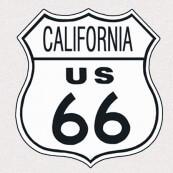 """Plaque publicitaire métal """"Route 66 California"""""""