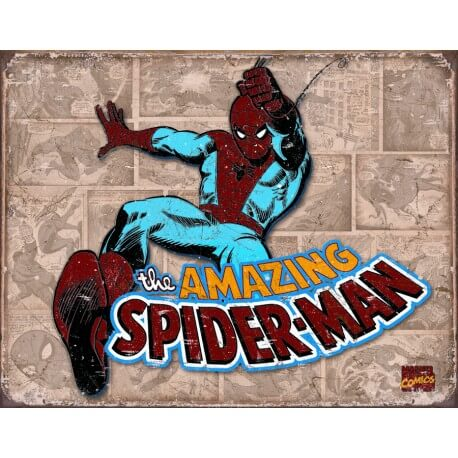 """Plaque publicitaire métal """"Super-man"""""""