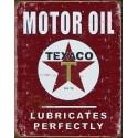 """Plaque publicitaire métal """"Texaco motor oil Rouge"""""""