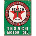 "Plaque publicitaire métal ""Texaco motor oil Vert"""