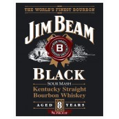 Plaque publicitaire métal Whiskey Jim Beam