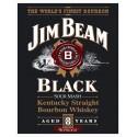 """Plaque publicitaire métal """"Whiskey Jim Beam"""""""
