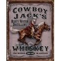 """Plaque publicitaire métal """"Whiskey Jack's cowboy"""""""