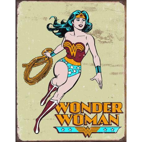 Plaque publicitaire wonder woman us way of life - Plaque publicitaire vintage ...