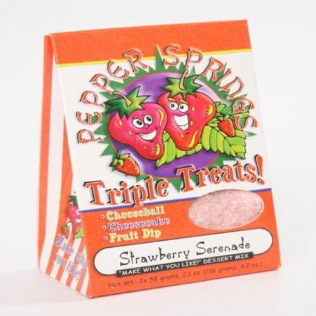 Préparation à desserts triple plaisir à la fraise : « Strawberry Triple Treats mix »