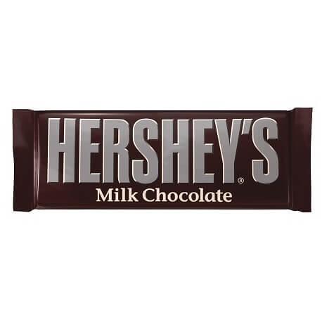 Barre chocolatée au lait Hershey's : «Hershey's: Milk Chocolate»