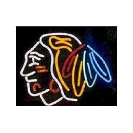 Enseigne néon lumineuse Chicago Blackhawks