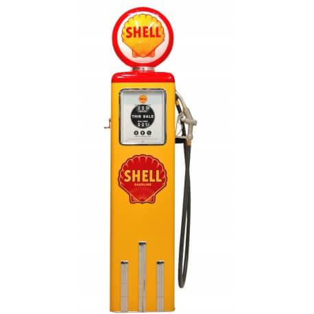 Pompe à essence Shell couleur jaune